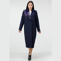 Зимовий кашемірове пальто з вишивкою та норкою Raslov 956