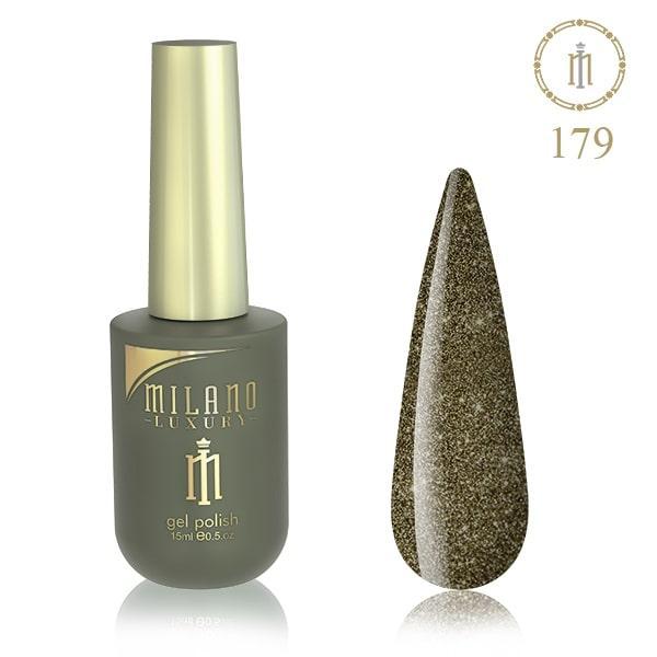 Гель лак MILANO LUXURY 15 мл № 179 (Черное серебро)