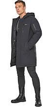 Куртка – воздуховик кольору графіту чоловічий зимовий модель 38012