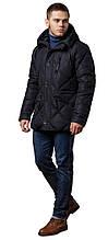 Современная мужская зимняя курточка чёрная модель 12481