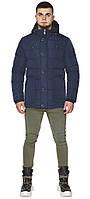 Коротка зимова куртка для чоловіка синя модель 44516 (ЗАЛИШИВСЯ ТІЛЬКИ 46(S)), фото 1
