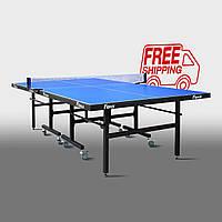 Теннисный стол для помещений «Феникс» Master Sport M19 синий