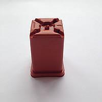 Горшок квадратный для кактусов 5см терракотовый