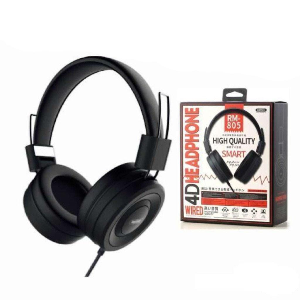 Наушники проводные Remax RM-805 с микрофоном Черные