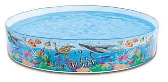 """Детский каркасный бассейн Intex """"Коралловый риф"""", 244x46 cм  (58472)"""