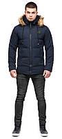 Тепла зимова куртка чоловіча синя модель 25550 (ЗАЛИШИВСЯ ТІЛЬКИ 48(M)), фото 1