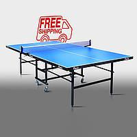 """Теннисный стол для помещений """"Феникс"""" Junior синий"""