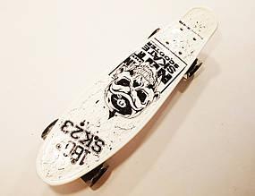 Пенні Борд 22Д Best Board Череп білий