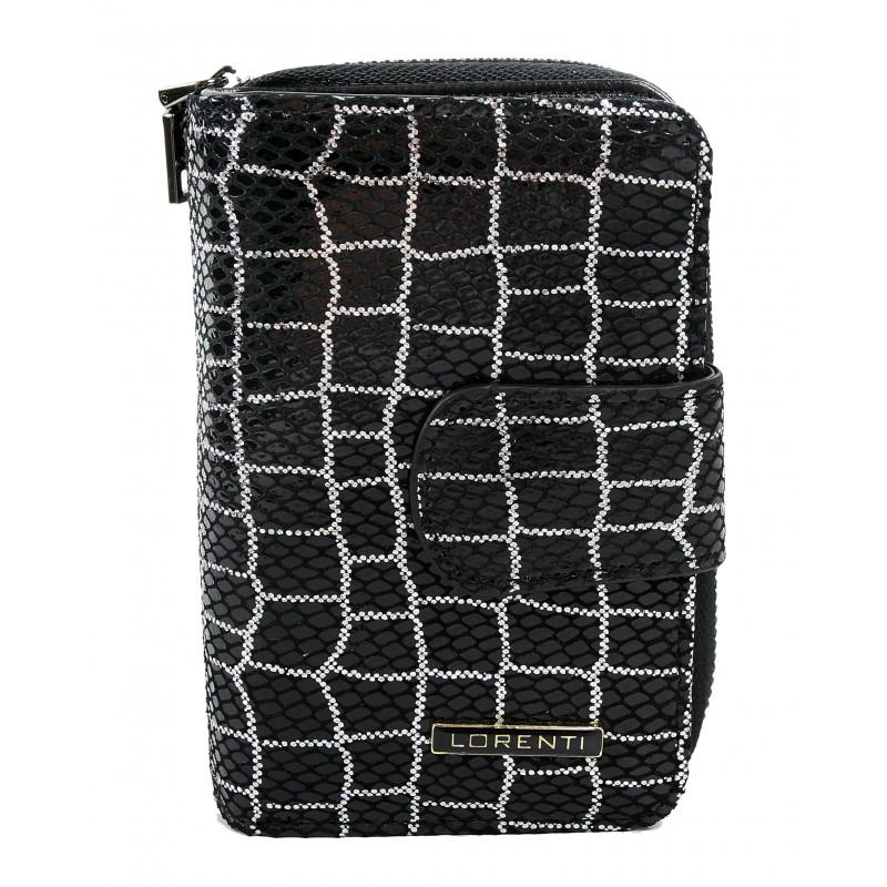 Жіночий шкіряний гаманець маленький Lorenti 76115-YBS-RFID чорний