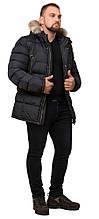 Стьобана зимова куртка великого розміру чоловіча графітова модель 23752 (ЗАЛИШИВСЯ ТІЛЬКИ 60(5XL))