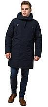 Чоловіча зимова парку темно-синя модель 23675