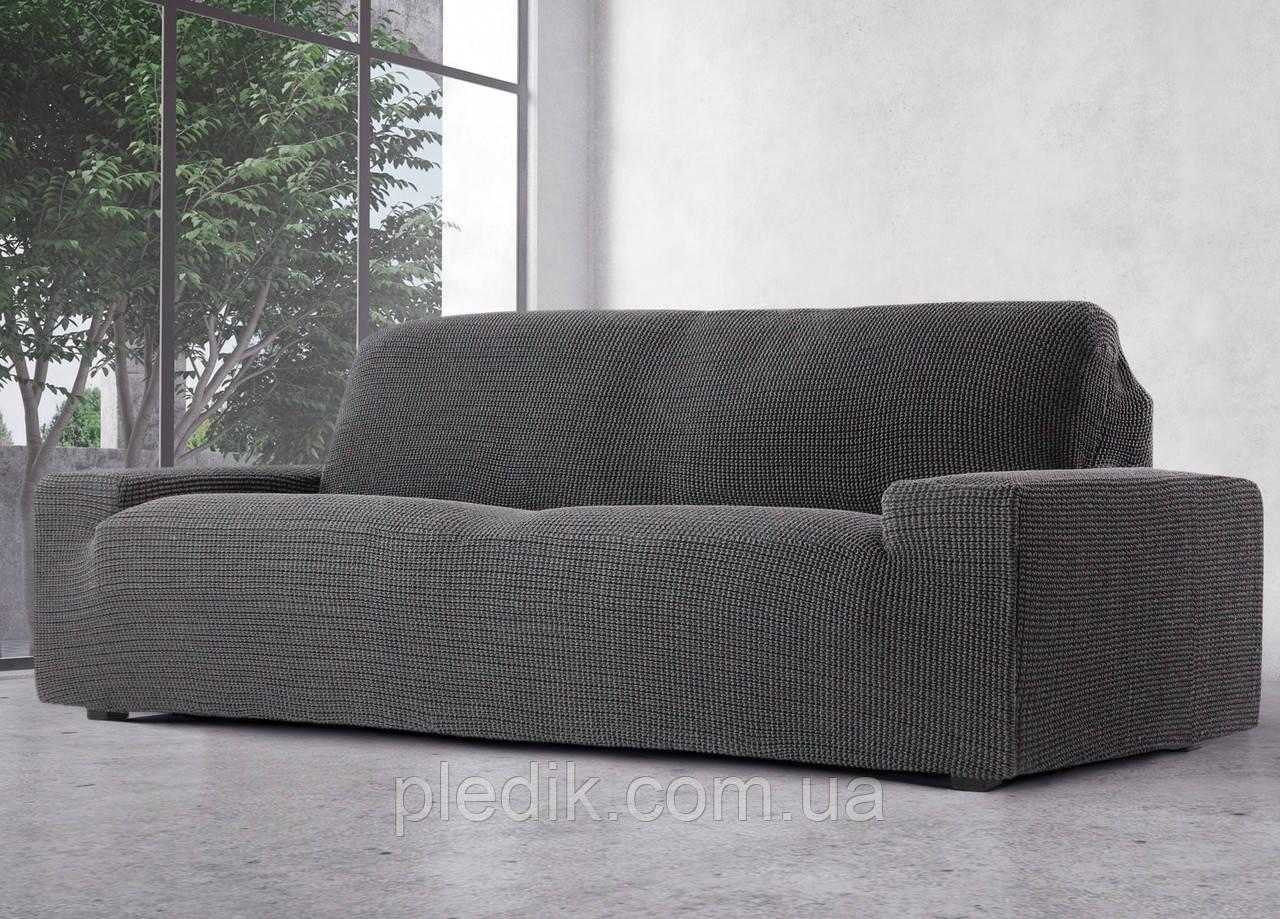 Чехол на диван натяжной 3-х местный Испания, Glamour Grey Гламур серый