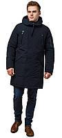 Модна зимове парку для чоловіка темно-синя модель 23675, фото 1