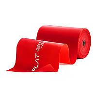 Стрічка еластична спортивна в рулоні4FIZJOFlat Band Для йоги тафітнесу Довжина 30м Латекс Червоний