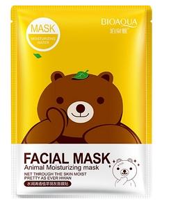 Маска Bioaqua Facial Mask Animal с эссенцией зеленого чая