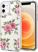 Чехол Spigen для iPhone 12 / iPhone 12 Pro - Ciel, Pink Floral (ACS01828)