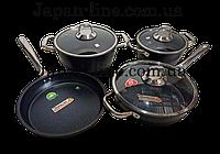 """Набор посуды с антипригарным покрытием 7 пр. Pearl Luxury от СASA ROYAL """"Greblon Diamond Pro"""""""