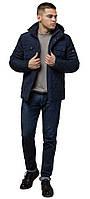 Зимняя мужская куртка комфортного кроя синяя модель 1698 (ОСТАЛСЯ ТОЛЬКО 46(S)), фото 1