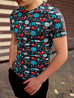 Футболка чоловіча. Стильна чоловіча футболка з модним принтом., фото 1