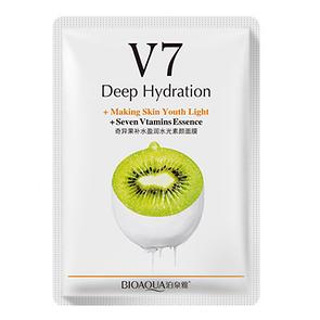 Тканевая витаминная маска для лица BIOAQUA V7 Deep Hydration Киви