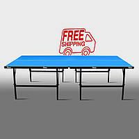 Теннисный стол для помещений «Феникс» Basic Sport M16 синий