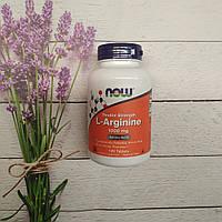 Now Foods L-Arginine 120 tab 1000 mg, аргинин Нау фудс