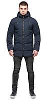 Зимняя мужская темно-синяя куртка молодежная на змейке модель 25400, фото 1