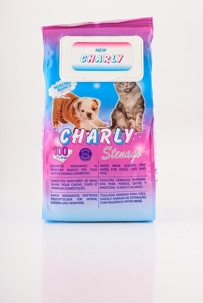 CHARLY Вологі серветки для домашніх тварин - 100 шт.