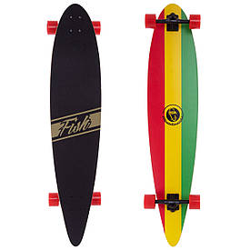 Профессиональный лонгборд круизер деревянный (скейтборд) 117x22,5 см SK-416-2