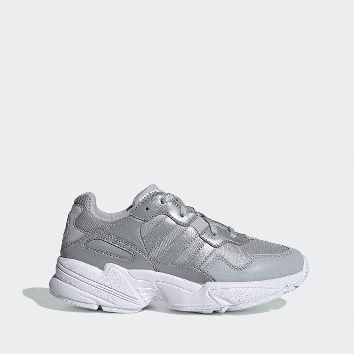 Кроссовки женские Adidas Yung-96 J серебристые (EE6746)