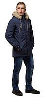 Синя зимова коротка парку для чоловіків модель 14015, фото 1