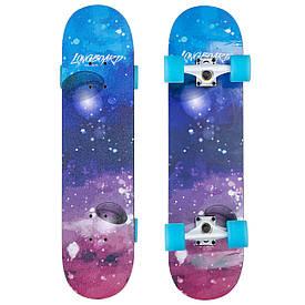 Классический скейтборд в сборе (роликовая доска) SK-1246-1