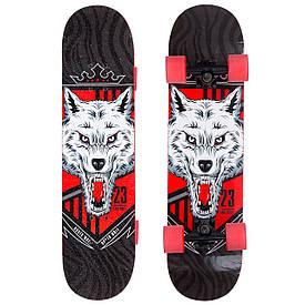 Скейт в сборе (роликовая доска) Волк SK-1246-4