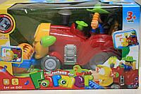 Музыкальный трактор на батарейках  в коробке 126*12*15 см