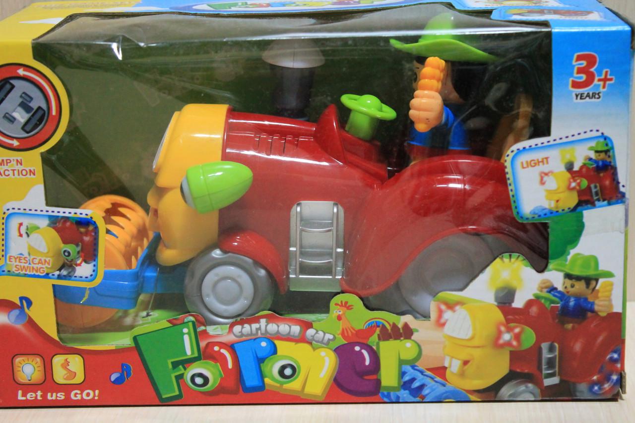 Музыкальный трактор на батарейках  в коробке 126*12*15 см - Style-Baby детский магазин в Киеве