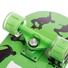 Скейт в сборе зелёный со светящимися колесами LUKAI SK-1245-2, фото 3