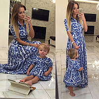 Family Look Парные платья Valentino мама+дочка (два варианта моделей)