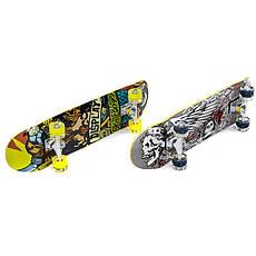 Скейт в сборе (роликовая доска) светящиеся колеса 78х20х1,2см SK-0314, Серый, фото 3