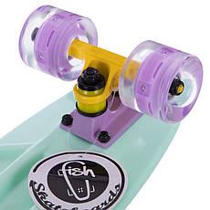 Скейт пластиковий Penny FISH 56 см з світяться колесами SK-405-9, фото 3