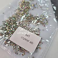 Стразы для ногтей ss5 crystal AB 1440шт. (1,7-1,8мм)