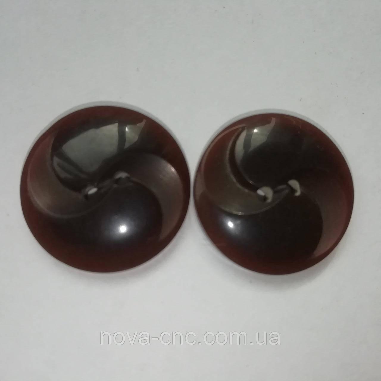 Пуговицы  пластмассовые 22 мм Цвет коричневый Упаковка 10 штук