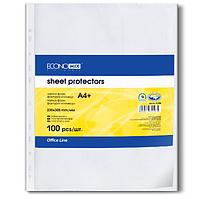 """Файл для документов А4+ Economix, 30 мкм, фактура """"глянец"""" (100 шт./уп.) E31106"""