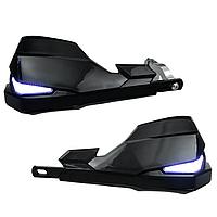 Защита рук мотоцикла с дневными ходовыми огнями и повторением поворотников