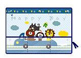 Сонцезахисна дитяча шторка на вікно автомобіля Звірята, фото 9