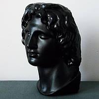 Александр Македонский Великий, бюст гипсовый, черного цвета, большого размера в античном стиле