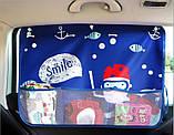 Сонцезахисна дитяча шторка на вікно автомобіля Звірята, фото 7