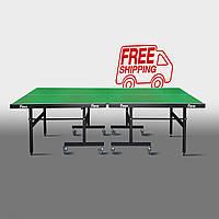 Теннисный стол для помещений «Феникс» Master Sport M16 зеленый