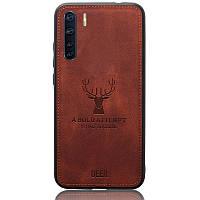 Чехол Deer Case для Oppo A91 Brown