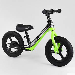 """Велобіг від Corso 14452, колесо 12"""" надувні, магнієва рама, магнієві диски, підніжка"""