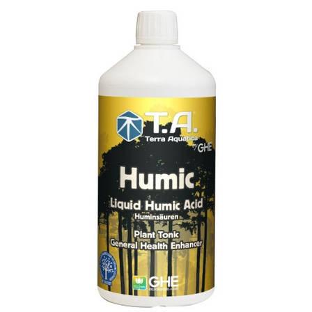 Стимулятор-добавка для кращого засвоєння і всмоктування поживних речовин рослинами Humic Terra Aquatica 1л, фото 2